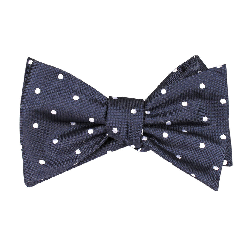 1b071e8d1ede ... OTAA; Navy Blue with White Polka Dots - Bow Tie (Untied) Self tied knot  by ...