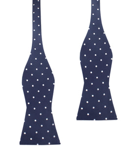 Navy Blue with White Polka Dots Bow Tie Untied X325 OTAA
