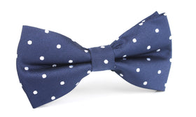 Navy Blue with White Polka Dots Bow Tie OTAA