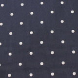 Navy Blue with White Polka Dots Fabric Bow Tie X325