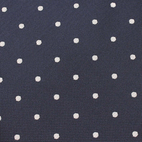 Navy Blue with White Polka Dots Pocket Square