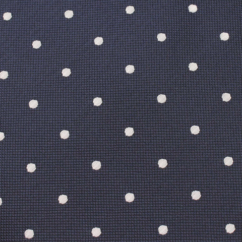 Navy Blue with White Polka Dots Diamond Bow Tie