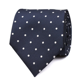 Navy Blue with White Polka Dots Tie OTAA