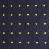 Navy Blue with Yellow Polka Dots Fabric Bow Tie M129