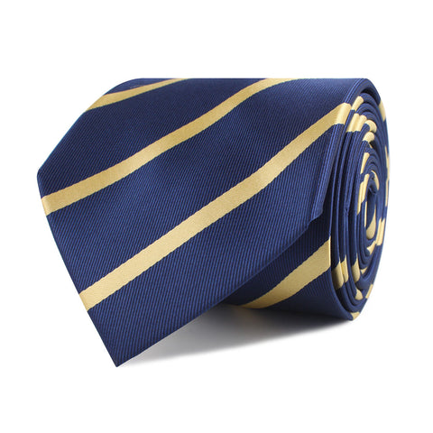 Navy Blue with Yellow Stripes Necktie