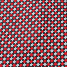 Navy and Light Blue Red Checkered Pocket Square