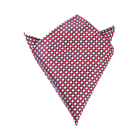 Navy and Light Blue Red Checkered - Pocket Square