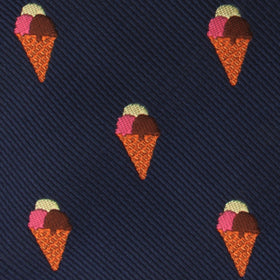 Neapolitan Ice Cream Cone Bow Tie