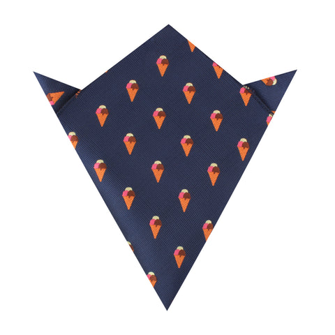 Neapolitan Ice Cream Cone Pocket Square