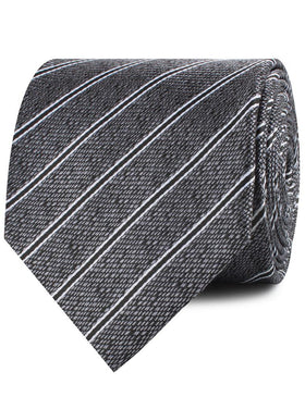 New York Charcoal Striped Necktie