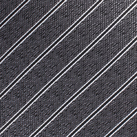 New York Charcoal Striped Pocket Square