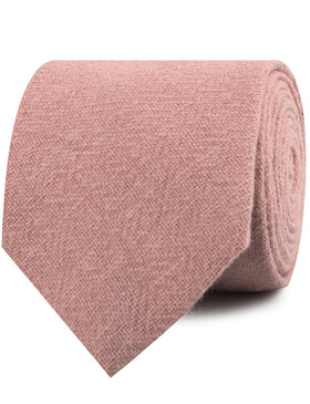New York Dusty Nude Pink Linen Necktie
