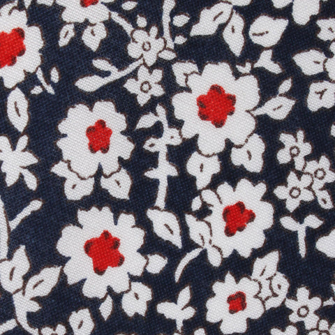 New York Navy Floral Pocket Square