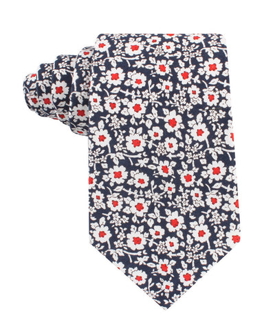 New York Navy Floral Tie