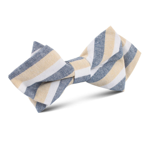 New York Striped Diamond Bow Tie