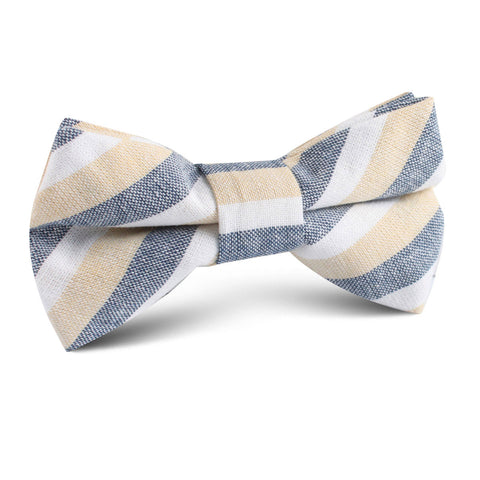 New York Striped Kids Bow Tie