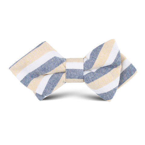 New York Striped Kids Diamond Bow Tie