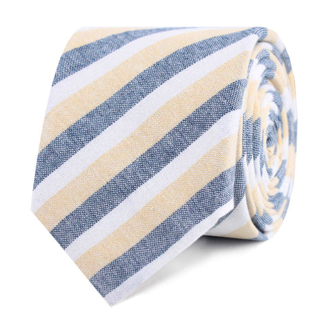 New York Striped Skinny Tie