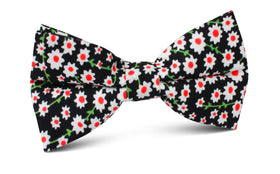 Nong Nooch White Flower Bow Tie