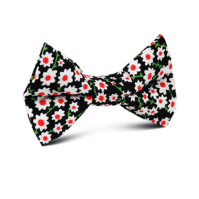 Nong Nooch White Flower Kids Bow Tie