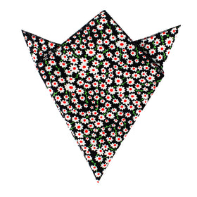 Nong Nooch White Flower Pocket Square