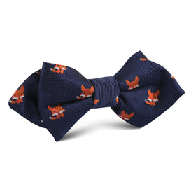 North American Kit Fox Diamond Bow Tie