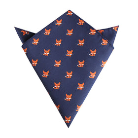 North American Kit Fox Pocket Square