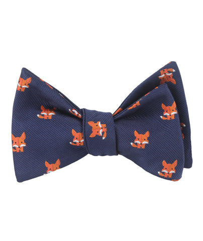 North American Kit Fox Self Bow Tie
