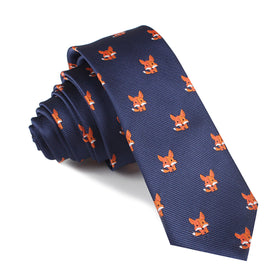 North American Kit Fox Skinny Tie