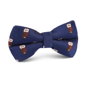 Northern Brown Owl Kids Bow Tie