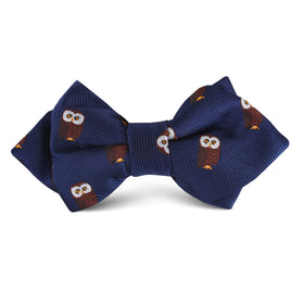 Northern Brown Owl Kids Diamond Bow Tie