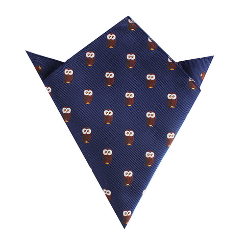 Northern Brown Owl Pocket Square