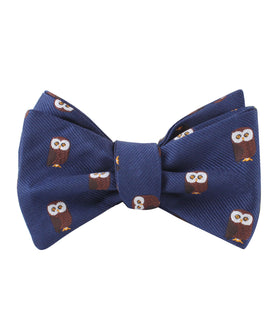 Northern Brown Owl Self Bow Tie