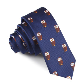 Northern Brown Owl Skinny Tie