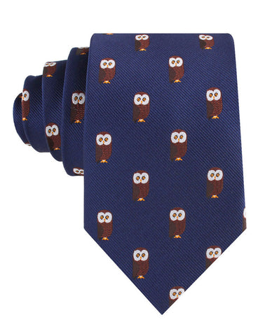 Northern Brown Owl Tie