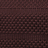 Nottingham Brown Knitted Tie Fabric