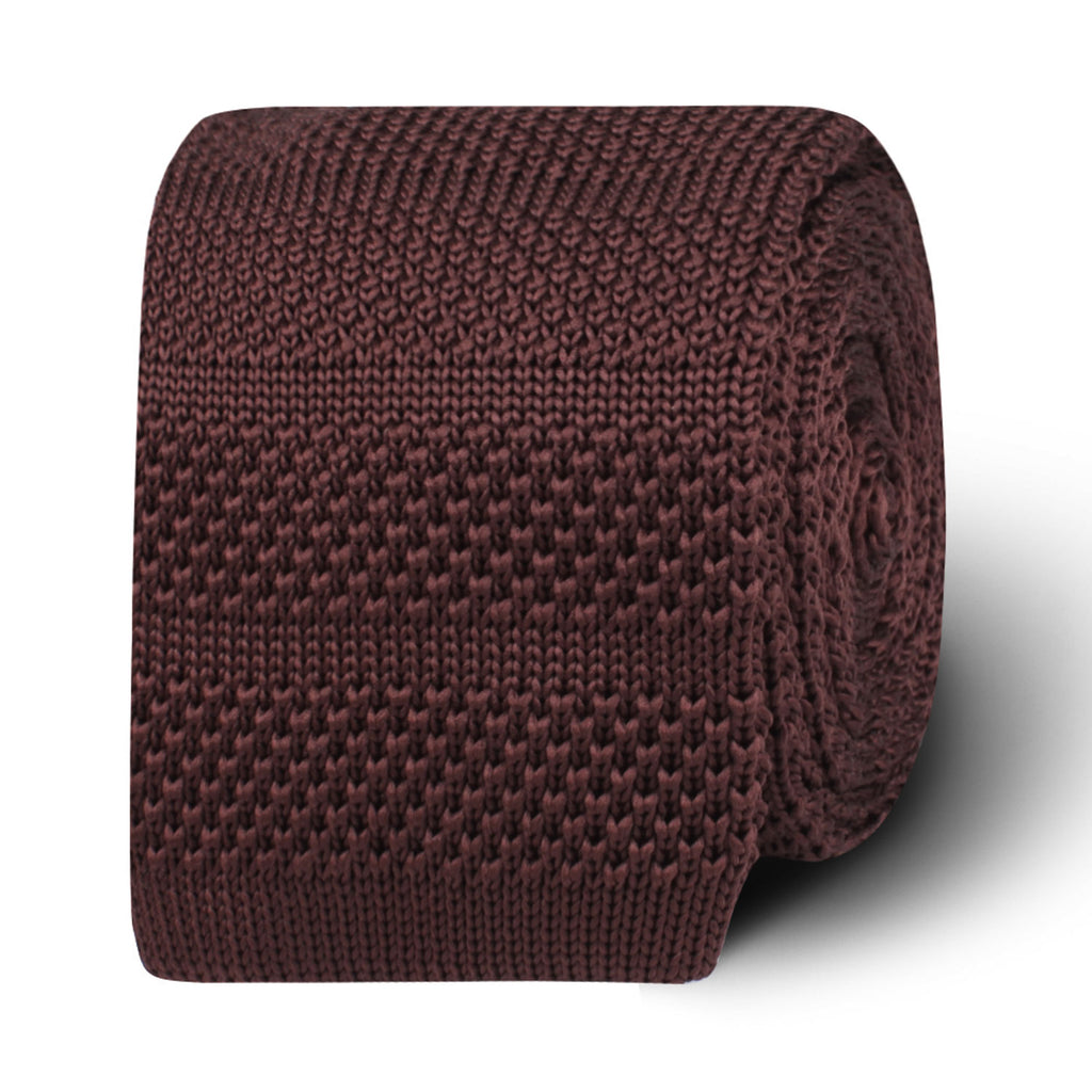 Nottingham Brown Knitted Tie