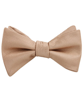 Nude Brown Twill Self Bow Tie