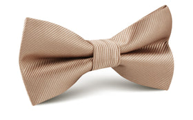 Nude Brown Twill Bow Tie