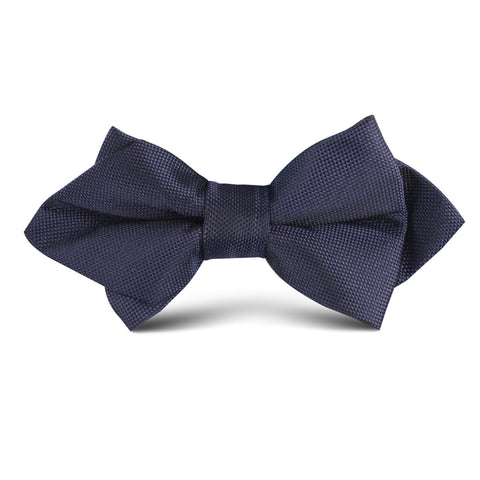 Nude Navy Blue Kids Diamond Bow Tie