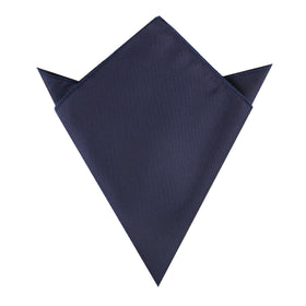 Nude Navy Blue Pocket Square