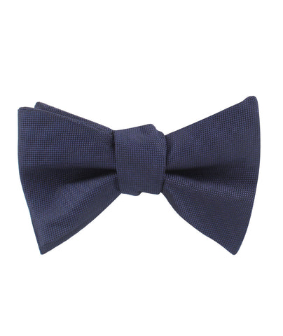Nude Navy Blue Self Bow Tie