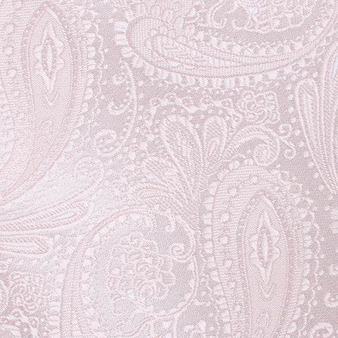 Nude Pink Paisley Pocket Square