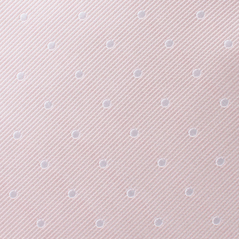 Nude Pink Polka Dots Bow Tie
