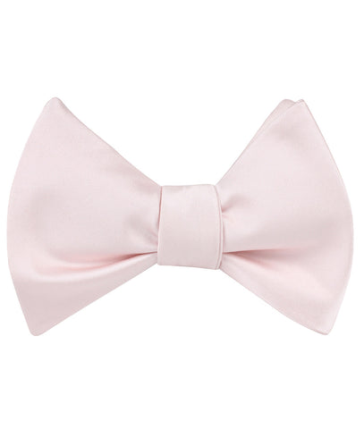 Nude Pink Satin Self Bow Tie