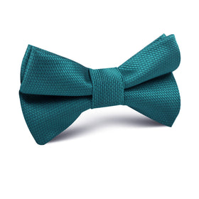 Oasis Blue Weave Kids Bow Tie