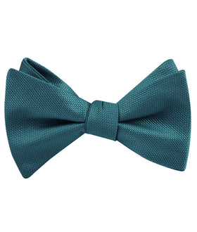 Oasis Blue Weave Self Bow Tie