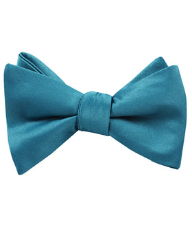 Oasis Teal Satin Self Bow Tie