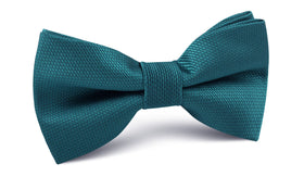 Oasis Blue Weave Bow Tie