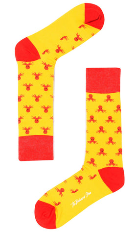 Octopus Island Yellow Socks